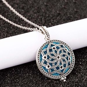 NEW Silver Locket Oil Diffuser Necklace Jewelry